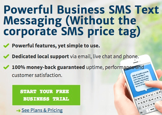 Direct SMS - example of generating qualified leads