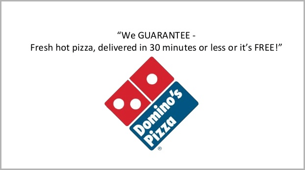 Unique selling proposition example - Dominos