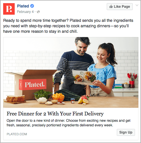 eCommerce - Plated - best facebook ads