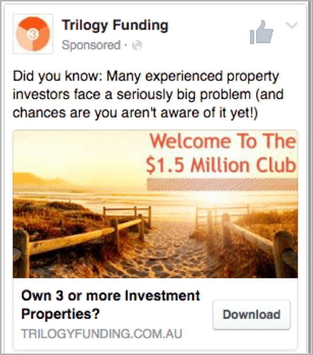 Trilogy ad one - facebook ads case study