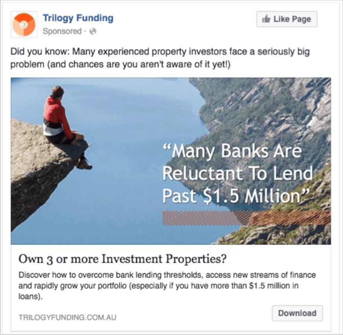 Trilogy ad two - facebook ads case study
