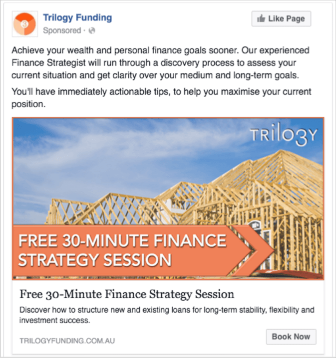 Trilogy ad five - facebook ads case study