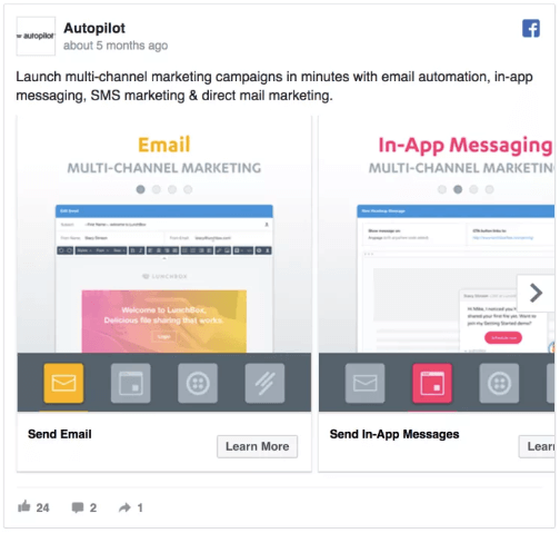 Autopilot - best facebook ads