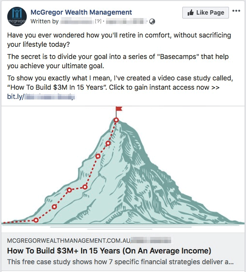 Financial advisor best facebook ads