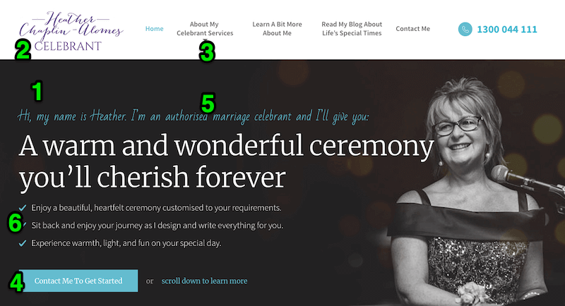 MyCelebrant.com.au Above The Fold Optimisation