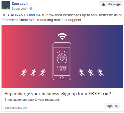 Zenreach - best facebook ads